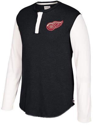 Ccm Men's Detroit Red Wings Long Sleeve Henley Shirt