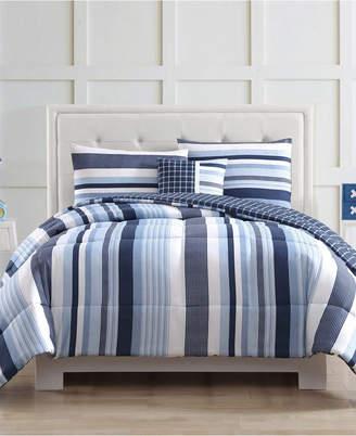 Pem America Laura Hart Kids Mason Stripe Twin Comforter Set Bedding