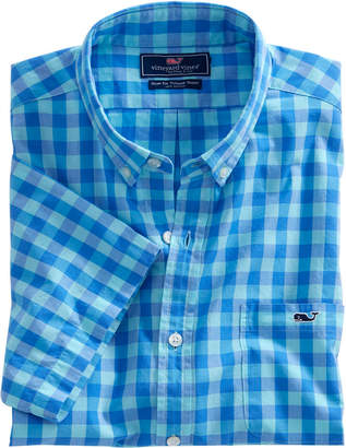 Vineyard Vines Short-Sleeve Fort George Check Slim Tucker Shirt