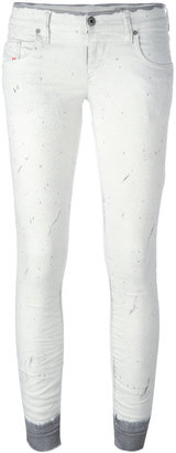 Diesel splatter skinny jeans $284.20 thestylecure.com