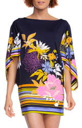 Trina Turk Bal Harbour Flutter Sleeve Tunic Dress