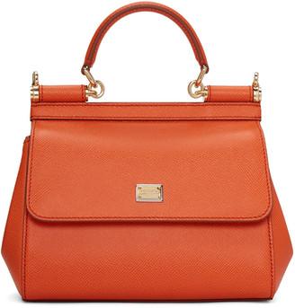 Dolce & Gabbana Orange Small Miss Sicily Bag $1,395 thestylecure.com