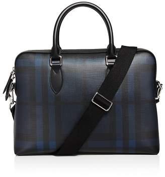 Burberry The Barrow Check Slim Briefcase