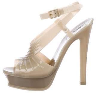 Saint Laurent Rubber Platform Sandals