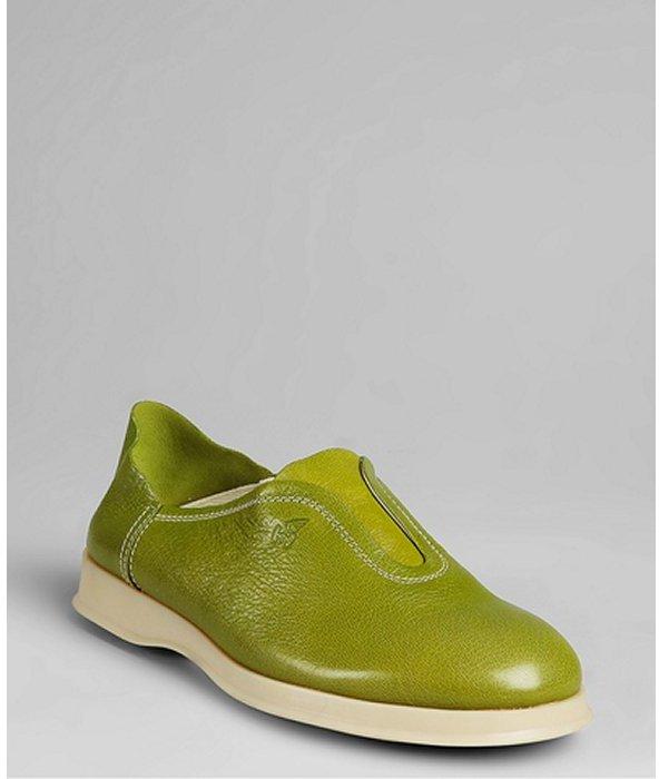 Hogan avocado leather 'Donna' clogs