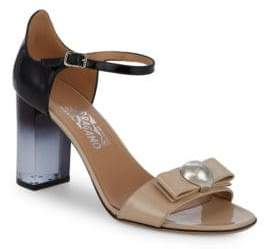 Salvatore Ferragamo Frilly Lucite Heel Sandals