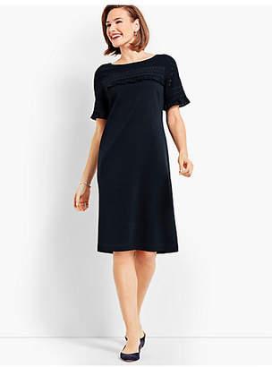 Talbots Ruffle Knit Shift Dress