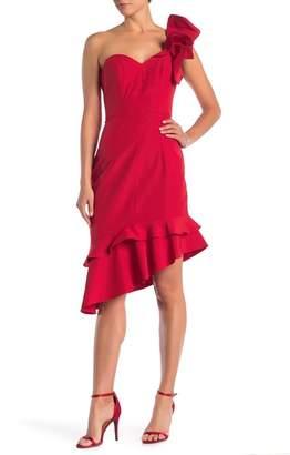 Lumier Marissa Ruffled One-Shoulder Dress
