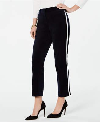 Tommy Hilfiger Velvet Side-Striped Pants