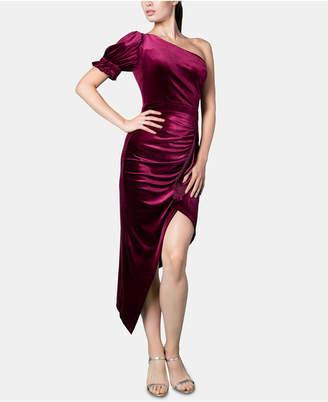 Brittany Xavier x Inspr Velvet One Shoulder Dress