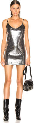 RtA Bijoux Sequin Dress in Malta Silver | FWRD