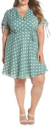 Glamorous Polka Dot Fit & Flare Dress (Plus Size)
