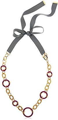 Trina Turk Destination Groove Ribbon Tie Back Resin Necklace