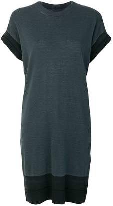 contrast trim T-shirt dress - Grey Maison Martin Margiela J3uRB6Rtl0