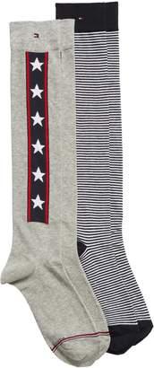 Tommy Hilfiger 2-Pack Knee High Socks