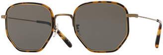 Oliver Peoples Men's Alland Square Metal/Acetate Sunglasses