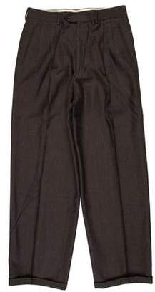 Giorgio Armani Wool Double-Pleat Dress Pants