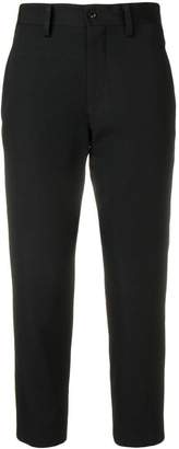 Y's cropped slim-fit trousers