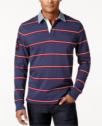 Tommy Hilfiger Men's Big & Tall Conen Striped Rugby Shirt $99 thestylecure.com