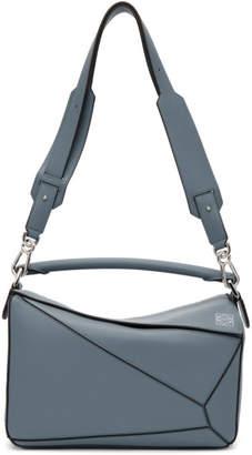 Loewe Blue Medium Puzzle Bag