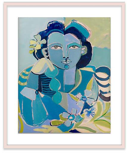 Blue Lady - Hayley Mitchell - 37L x 48W x 2.25D Art