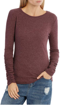 Miss Shop Long Sleeve Ruched Layering Top