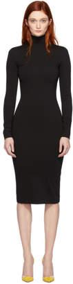 DSQUARED2 Black Jersey Turtleneck Dress