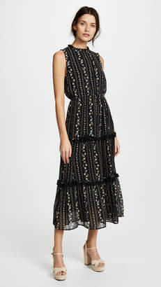 Moon River Tiered Floral Dress