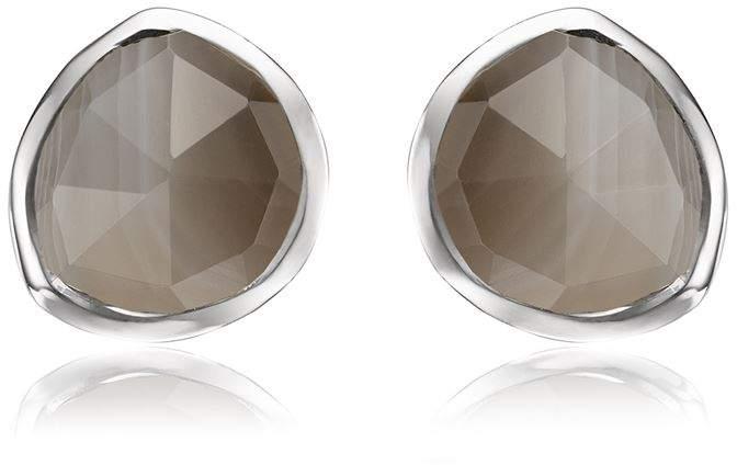 Siren Grey Agate Stud Earrings