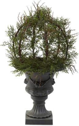 "Nearly Natural 30"" Pond Cypress Ball Indoor/Outdoor Artificial Topiary with Urn"
