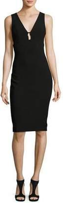 LIKELY Albury Cutout Sleeveless Sheath Dress, Black