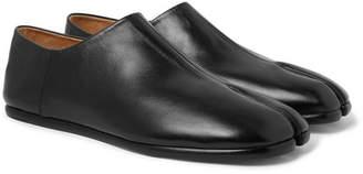 Maison Margiela Tabi Collapsible-Heel Split-Toe Leather Loafers - Men - Black