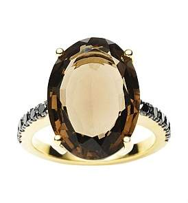 Black Diamond Jan Logan 18Ct Smoky Quartz Bianca Ring