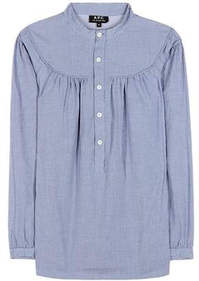 A.P.C. Ingalls striped cotton blouse