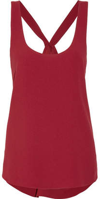 Theory - Bintilra Crepe Top - Claret $235 thestylecure.com