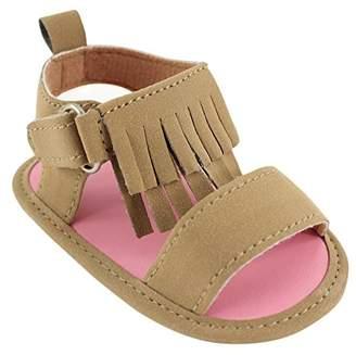 Luvable Friends Girl's Fringe Sandal (Infant)