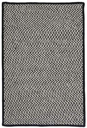 Colonial Mills Outdoor Houndstooth Tweed Black Rug Rug