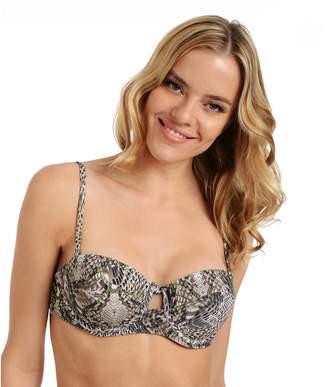 b0cbc41562834 Cyn And Luca Women's Cyn and Luca Snakeskin Underwire Bikini Top