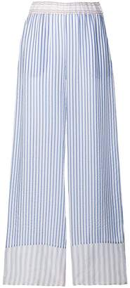 P.A.R.O.S.H. striped wide leg trousers