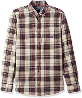 Buffalo David Bitton Men's Sinter Long Sleeve Oxford Plaid Button Down Shirt