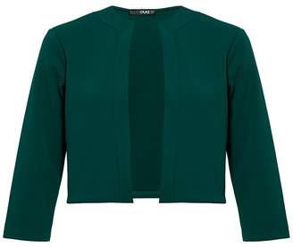 Quiz Bottle Green 3/4 Sleeve Crop Jacket