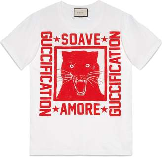 Gucci Soave Amore Guccification print T-shirt