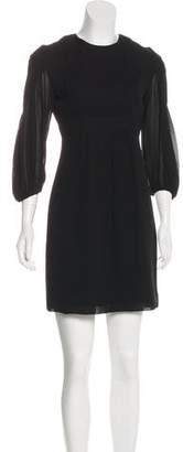 Givenchy Long Sleeve Sheath Dress
