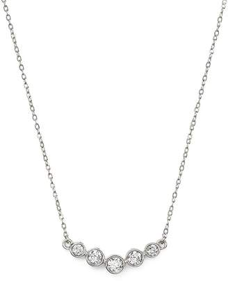 Bloomingdale's Diamond Graduated Bezel Necklace in 14K White Gold, .25 ct. t.w. - 100% Exclusive