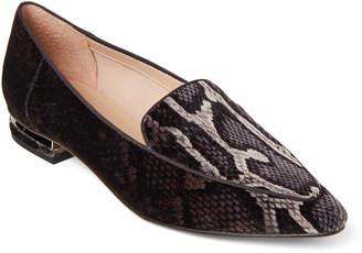 Franco Sarto Snake-Effect Starland Velvet Loafers
