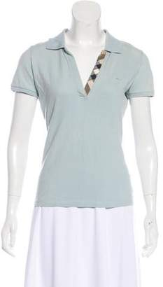 Burberry Pique Polo Top