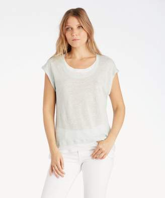 Sole Society Extend Shoulder Colorblocked Linen Tee
