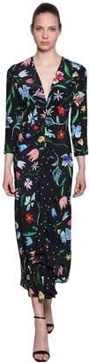 Tulip Multi Printed Silk Midi Dress