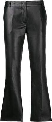 Kiltie cropped textured trousers