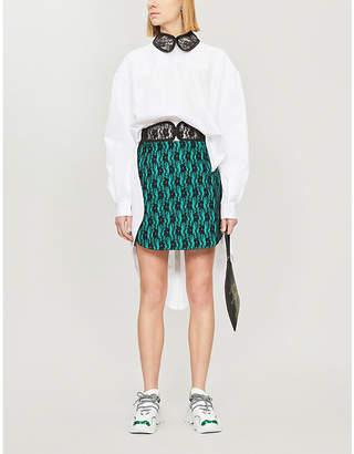 Christopher Kane Lace collar cotton-poplin shirt